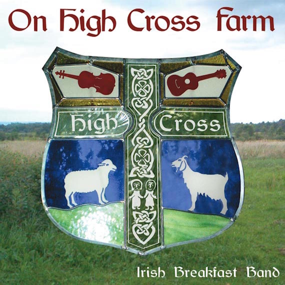 Cover of CD: On High Cross Farm, stained glass by Sean Doherty