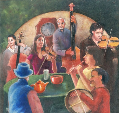 Irish Breakfast Band At Home painting by Brendan Sheridan